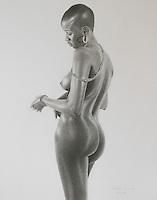 Beautiful Dark Skin ~ Graphite on paper 11 x 14 inch (27.94 x 35.56 cm).