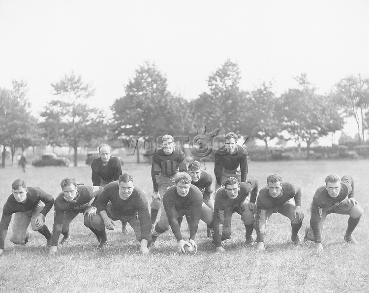 Football team in field