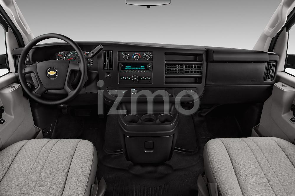 Stock photo of straight dashboard view of 2016 Chevrolet Express-Cargo 2500-Work-Van-HD 4 Door Cargo Van Dashboard
