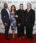 Brandon Victor Dixon, Sarah Stern, Michael Mayer and Douglas Aibel attends the Vineyard Theatre Gala 2018 honoring Michael Mayer at the Edison Ballroom on May 14, 2018 in New York City.