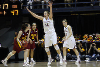 BERKELEY, CA - MARCH 30: Kayla Pedersen gives no room during Stanford's 74-53 win against the Iowa State Cyclones on March 30, 2009 at Haas Pavilion in Berkeley, California.
