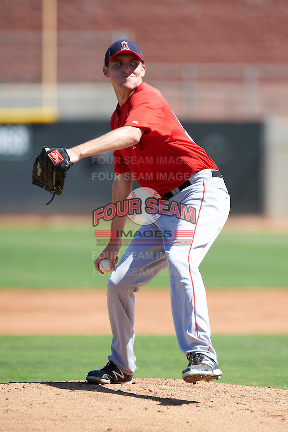 Los Angeles Angels minor league pitcher Pat Lowery #54 during an instructional league game against the Arizona Diamondbacks at the Tempe Diablo Minor League Complex on October 1, 2012 in Tempe, Arizona.  (Mike Janes/Four Seam Images)