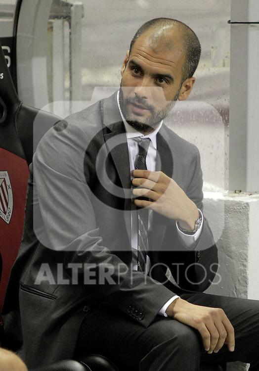 FC Barcelona's coach Pep Guardiola during La Liga match.September 25,2010. (ALTERPHOTOS/Acero)