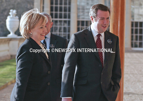 "HILARY CLINTON, US SECRETARY OF STATE AND YOUN, DEPUTY SECRETARY TO THE QUEEN.The Queen met G20 Summit world leaders at a reception at Buckingham Palace, London_01/04/2009..Photo Distributed by : Newspix International..**ALL FEES PAYABLE TO: ""NEWSPIX INTERNATIONAL""**..PHOTO CREDIT MANDATORY!!: NEWSPIX INTERNATIONAL(Failure to credit will incur a surcharge of 100% of reproduction fees)..IMMEDIATE CONFIRMATION OF USAGE REQUIRED:.Newspix International, 31 Chinnery Hill, Bishop's Stortford, ENGLAND CM23 3PS.Tel:+441279 324672  ; Fax: +441279656877.Mobile:  0777568 1153.e-mail: info@newspixinternational.co.uk"