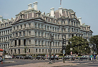 Washington D.C. : Formerly the State, War & Navy Building, 1871-1888. Architect Alfred B. Mullet. Now Executive Office Building. Photo '91.