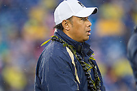 Annapolis, MD - OCT 8, 2016: Navy Midshipmen head coach Ken Niumatalolo during game between Houston and Navy at Navy-Marine Corps Memorial Stadium Annapolis, MD. The Midshipmen upset #6 Houston 46-40. (Photo by Phil Peters/Media Images International)
