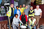 Members of the Tidy Tralee Together, painting the laneway near the Tralee Shopping Centre on Tuesday evening. <br /> Kneeling Front l-r, Johnce Kabba, Bamunanja Inunja and Xemuelewx Umen.<br /> Back l-r, Brendan O&rsquo;Brien, Isaac Opoku, Ntombiyejele Tshuma, Daniel Lynch, Gerry O&rsquo;Regan and Joe Moynihan