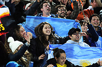 Jaguares fans celebrate during the Super Rugby match between the Chiefs and Jaguares at Rotorua International Stadum in Rotorua, New Zealand on Friday, 4 May 2018. Photo: Dave Lintott / lintottphoto.co.nz