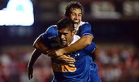 SAO PAULO SP, 20 Julho 2013 - Sao Paulo  X Cruzeiro.   Luan comemora gol do Cruzeiro durante partida valida pelo campeonato brasileiro de 2013  no Estadio do Morumbi em  Sao Paulo, neste sabado, 20. (FOTO: ALAN MORICI / BRAZIL PHOTO PRESS).