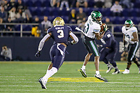 Annapolis, MD - October 26, 2019: Tulane Green Wave wide receiver Darnell Mooney (3) catches a pass during the game between Tulane and Navy at  Navy-Marine Corps Memorial Stadium in Annapolis, MD.   (Photo by Elliott Brown/Media Images International)