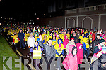 The thousands of walkers take off at the start of the Darkness into Light walk in aid of Pieta House in Killarney on Saturday morning