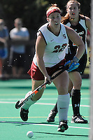 Stanford, CA - SEPTEMBER 27:  Midfielder Katherine Donner #22 of the Stanford Cardinal during Stanford's 7-0 win over the Pacific Tigers on September 27, 2008 at the Varsity Field Hockey Turf in Stanford, California.