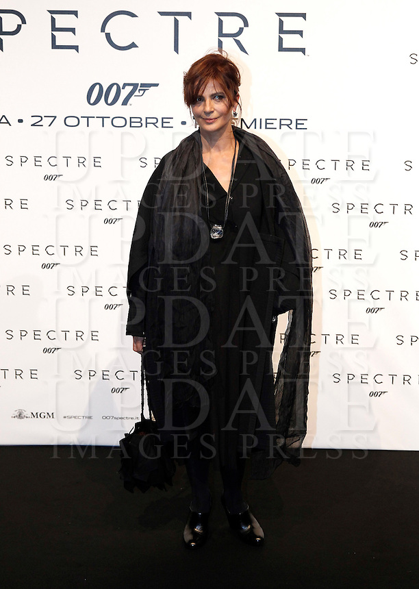 L'attrice Laura Morante posa sul red carpet per la premiere del film 'Spectre' a Roma, 27 ottobre 2015 .<br /> Italian actress Laura Morante poses on the red carpet for the premiere of the movie 'Spectre' premiere in Rome, 27 October 2015 .<br /> UPDATE IMAGES PRESS/Isabella Bonotto