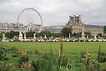 Jardin des Tuileries and the Louvre Museum, Paris, France.