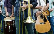 June 06, 2008. Durham, NC..North Carolina based salsa band, Orquesta GarDel.