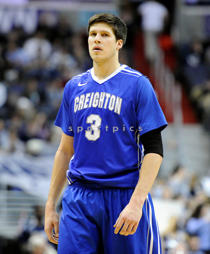 Creighton Bluejays Doug McDermott (3) during a game against the Georgetown Hoyas on March 4, 2014 at the Verizon Center in Washington, DC. Georgetown beat Creighton 75-63.