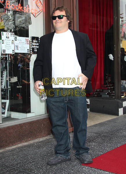 Jack Black.John Cusack Honored With A Star On The Hollywood Walk Of Fame, Hollywood, CA., USA..April 24th, 2012.full length black sunglasses shades suit jacket jeans denim.CAP/ADM/RE.©Russ Elliot/AdMedia/Capital Pictures.