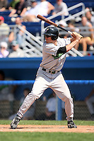 September 1 2008:  Kevin Mattison of the Jamestown Jammers, Class-A affiliate of the Florida Marlins, during a game at Dwyer Stadium in Batavia, NY.  Photo by:  Mike Janes/Four Seam Images