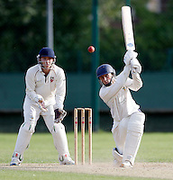 James Kidson bats for Shepherds Bush during the Middlesex Cricket League Division Two game between Shepherds Bush and Hornsey at Bromyard Ave, London on Sat Aug 1, 2015