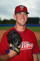 Philadelphia Phillies pitcher Tyler Gilbert poses for a photo after an instructional league game against the Toronto Blue Jays on September 28, 2015 at Englebert Complex in Dunedin, Florida.  (Mike Janes/Four Seam Images)