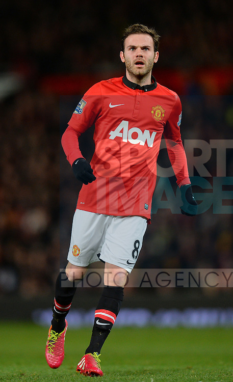 Juan Mata of Manchester United - Barclays Premier League - Manchester United vs Cardiff City - Old Trafford Stadium - Manchester - England - 28th January 2014  - Picture Simon Bellis/Sportimage