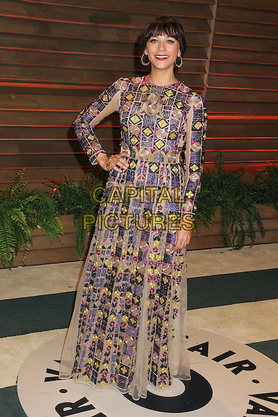 02 March 2014 - West Hollywood, California - Rashida Jones. 2014 Vanity Fair Oscar Party following the 86th Academy Awards held at Sunset Plaza.  <br /> CAP/ADM/BP<br /> &copy;Byron Purvis/AdMedia/Capital Pictures