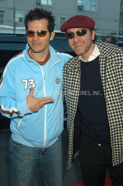WWW.ACEPIXS.COM . . . . . ....NEW YORK, APRIL 13, 2005....John Leguizamo and Fisher Stevens at the 'Ring of Fire the Emile Griffith Story' premiere held at the Beekman Theater.....Please byline: KRISTIN CALLAHAN - ACE PICTURES.. . . . . . ..Ace Pictures, Inc:  ..Craig Ashby (212) 243-8787..e-mail: picturedesk@acepixs.com..web: http://www.acepixs.com