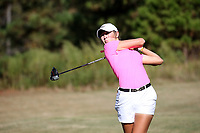 CHAPEL HILL, NC - OCTOBER 11: Rachel Kuehn of Wake Forest University tees off at UNC Finley Golf Course on October 11, 2019 in Chapel Hill, North Carolina.