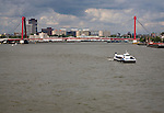 Bruweg bridge and River Maas, Rotterdam, South Holland, Netherlands