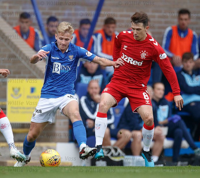 22.09.2019 St Johnstone v Rangers: Alistair McCann and Ryan Jack