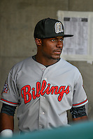Taylor Trammell (18) of the Billings Mustangs before the game against the Orem Owlz in Pioneer League action at Home of the Owlz on July 25, 2016 in Orem, Utah. Orem defeated Billings 6-5. (Stephen Smith/Four Seam Images)