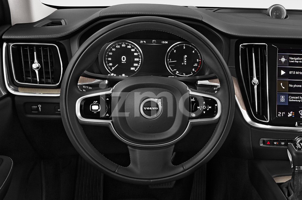 Car pictures of steering wheel view of a 2019 Volvo V60 Inscription 5 Door Wagon
