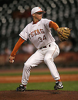 Texas Longhorns P Cole Green during the 2008 season. Photo by Andrew Woolley / Four Seam Images.