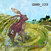 Simon, REALISTIC ANIMALS, REALISTISCHE TIERE, ANIMALES REALISTICOS, innovative, paintings+++++KateFindlay_DownlandHare,GBWR159,#a#, EVERYDAY,rabbit
