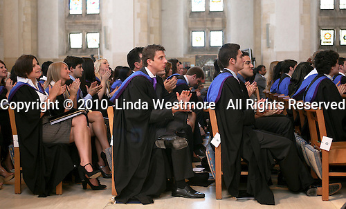 Students applaud at the end of the degree ceremony, University of Surrey.