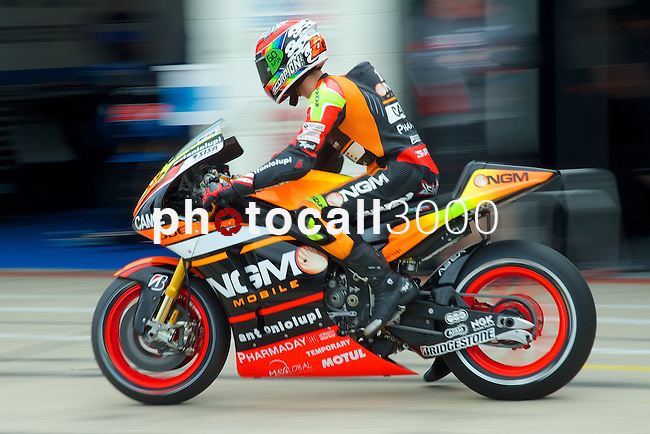 hertz british grand prix during the world championship 2014.<br /> Silverstone, england<br /> August 28, 2014. <br /> FP MotoGP<br /> Box<br /> alex de angelis<br /> PHOTOCALL3000/ RME