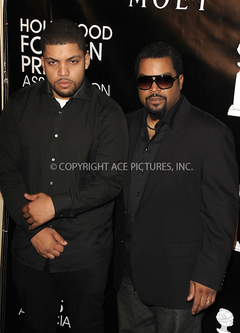 WWW.ACEPIXS.COM<br /> <br /> August 13 2015, New York City<br /> <br /> O'Shea Jackson Jr. and Ice Cube arriving at the HFPA Annual Grants Banquet at the Beverly Wilshire Four Seasons Hotel on August 13, 2015 in Beverly Hills, California.<br /> <br /> <br /> By Line: Peter West/ACE Pictures<br /> <br /> <br /> ACE Pictures, Inc.<br /> tel: 646 769 0430<br /> Email: info@acepixs.com<br /> www.acepixs.com