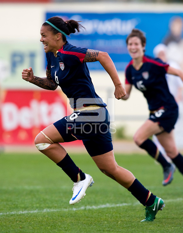 Natasha Kai.  The USWNT defeated Iceland, 1-0, at Ferreiras, Portugal.