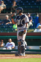 Surprise Saguaros catcher Gary Sanchez (78) during an Arizona Fall League game against the Scottsdale Scorpions on October 22, 2015 at Scottsdale Stadium in Scottsdale, Arizona.  Surprise defeated Scottsdale 7-6.  (Mike Janes/Four Seam Images)