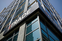 Scotia iTRADE logo is seen in Toronto financial district April 20, 2010. Scotia iTRADE delivers online trading and investing solutions for self-directed investors.