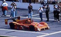Gianpiero Moretti is greeted on pit road after winning the 24 Hours of Daytona, Daytona International Speedway, Daytona Beach, FL, February 1, 1998.  (Photo by Brian Cleary/www.bcpix.com)