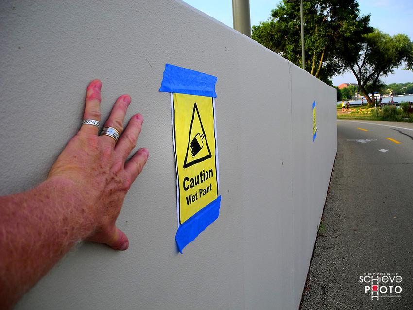 Caution, wet paint.