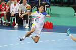 25.01.2013 Barcelona, Spain. IHF men's world championship, 3º/4º place. Picture show Jure Dobelsek in action during game between Slovenia vs Croatia at Palau St. Jordi