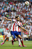 Juanfran Torres of Atletico de Madrid during La Liga match between Real Madrid and Atletico de Madrid at Santiago Bernabeu stadium in Madrid, Spain. September 13, 2014. (ALTERPHOTOS/Caro Marin)