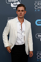 Dacre Montgomery attends the 23rd Annual Critics' Choice Awards at Barker Hangar in Santa Monica, Los Angeles, USA, on 11 January 2018. Photo: Hubert Boesl - NO WIRE SERVICE - Photo: Hubert Boesl/dpa /MediaPunch ***FOR USA ONLY***