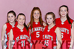 The St Marys 2 team that played in the U16 Girls final in the St Marys Basketball blitz final on Friday l-r: Brid Moriarty, Saoirse Murphy, Kayla O'Connor, Sabhdh Prenderville and Danni Reidy