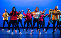 Students perform in the annual Dance Production dress rehearsal, March 21, 2019 in Thorne Hall. An Occidental College tradition for over 70 years.<br /> (Photo by Marc Campos, Occidental College Photographer)