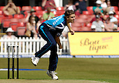 Cricket - CB40 Leicestershire Foxes V Scottish Saltires at Grace Road - Leicester - pic shows Luke Butterworth (Tasmania and Australia A - also the Saltires Overseas player for 2011) in action bowling during the match - Picture by Donald MacLeod - 25.04.11 - 07702 319 738 - www.donald-macleod.com