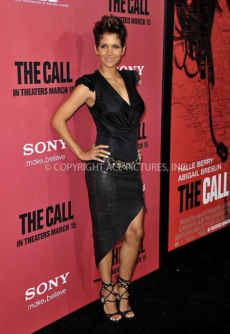 WWW.ACEPIXS.COM....March 5 2013, LA....Halle Berry arriving at 'The Call' Los Angeles Premiere at the ArcLight Hollywood on March 5, 2013 in Hollywood, California.....By Line: Peter West/ACE Pictures......ACE Pictures, Inc...tel: 646 769 0430..Email: info@acepixs.com..www.acepixs.com