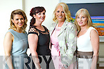 Michelle O'Hara (Tralee) Frances Harty (Castlegregory) Lisa Martin (Tralee) and Mary Ellen Flynn (Castlegregory) enjoying the Ladies Lunch & Fashion afternoon on Sunday last held in Ballyroe Heights Hotel in aid of the  Recovery Haven Tralee.
